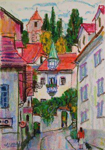 Street of Luzern 42cm x 29.5cm