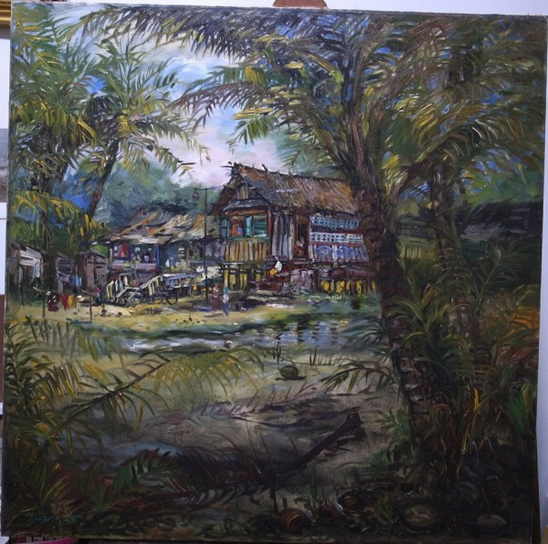 The Vanishing Kampong Silat 2 91.5cm x 91.5cm