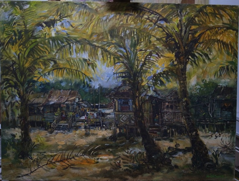 The Vanishing Kampong Silat 3 76cm x 102cm