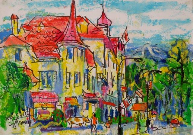 Street of Bern Switzerland 21cm x 29.5cm