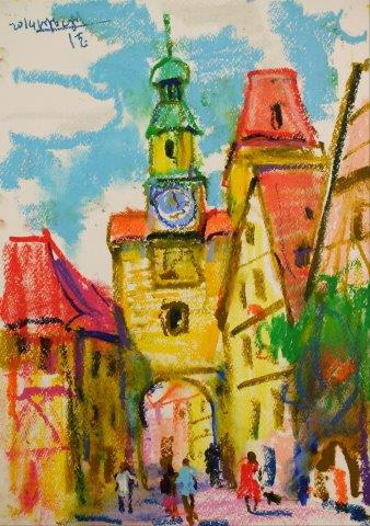 Rothenburg Germany 42cm x 29.5cm