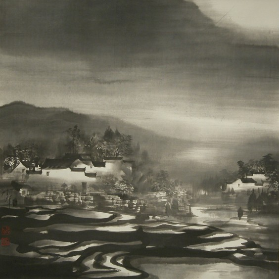 Village of Ricefields 70cm x 70cm