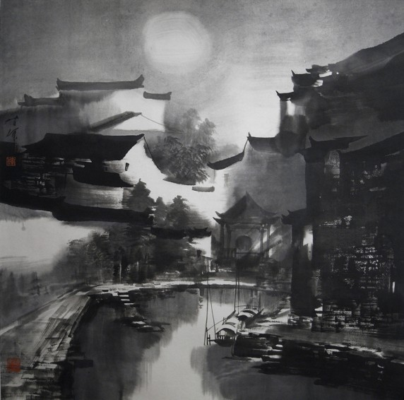 Moonlit Night, Wanan 70cm x 70cm