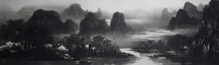 The Tranquil Land, Guilin 95cm x 27cm