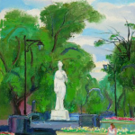 Central Garden, Harbin ( Oil On Canvas ) 46cm x 36cm