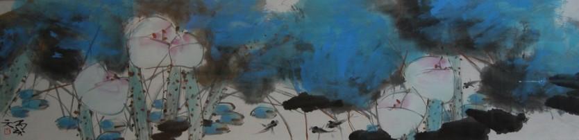 Blue Series 2 139cm x 35cm
