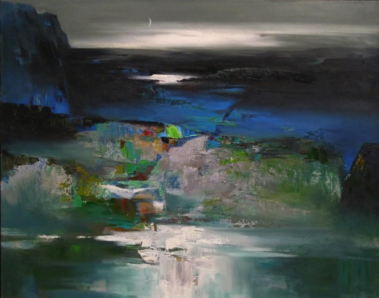 A Moonlit Spring Night 116cm x 92cm