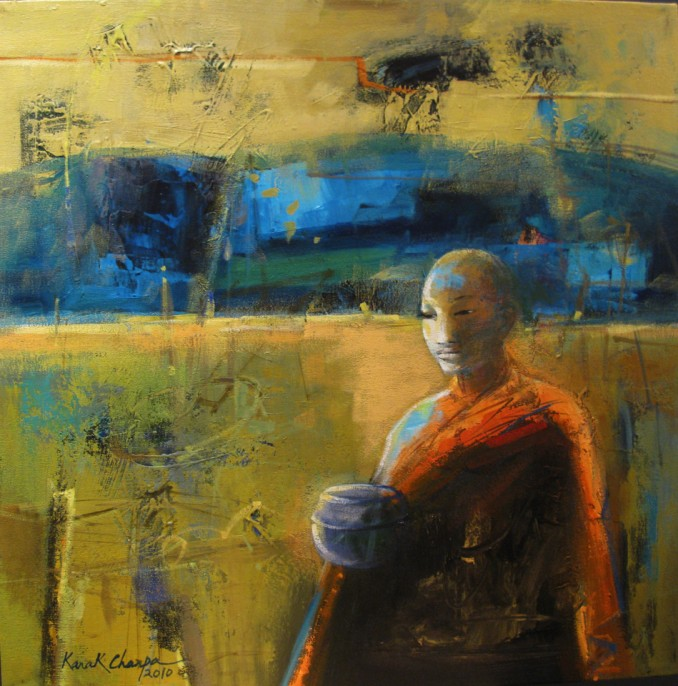 The Monk 60cm x 60cm