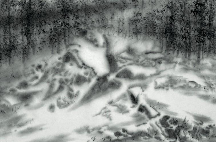 Snow 4 45cm x 68cm