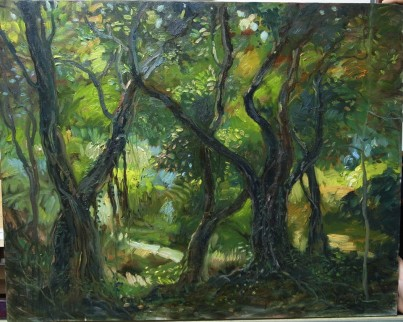 Rainforest of Sentosa 2- 60x76cm- 2003