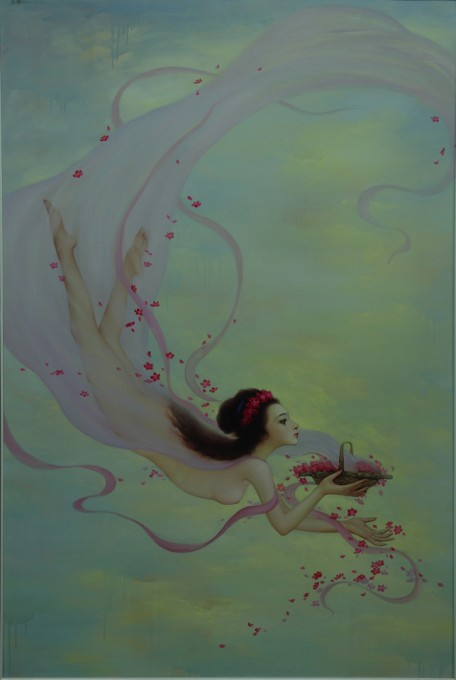 Celestial Beauty Scattering Flowers 180cm x 120cm