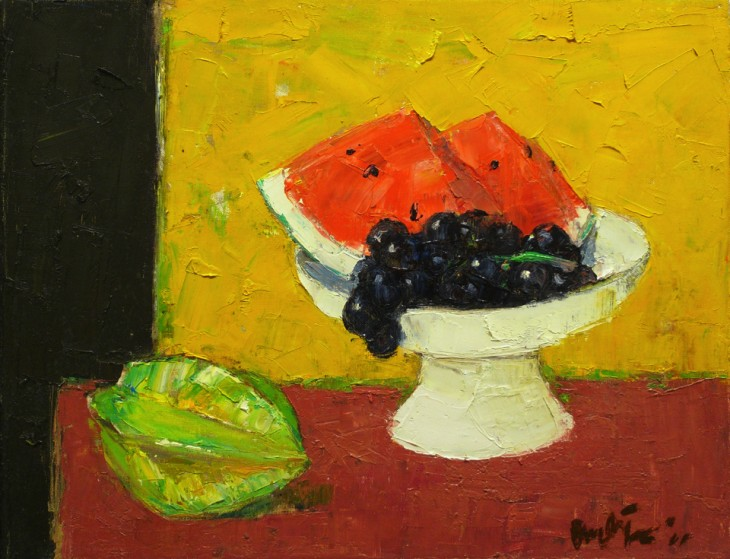 Grapes and Watermelon 36cm x 45cm