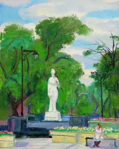 Central Garden, Harbin ( Oil On Canvas ) 46cm x 36cm