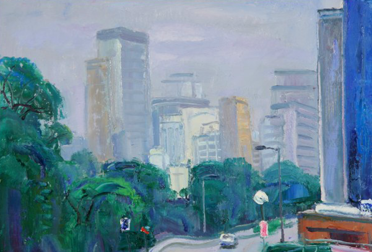 Misty Weather, Hong Kong ( Oil On Canvas) 36cm x 46cm