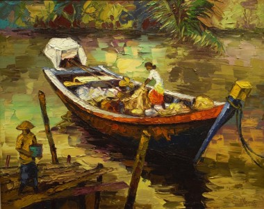 The Return of Fishing Boat 53cm x 65cm